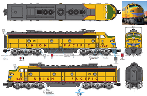 "Lionel 20333UP - Legacy E9 Diesel Locomotive AA Set ""Union Pacific"" #949/#951 - Custom Run for MrMuffin'sTrains"