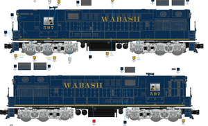 "Lionel 20334W1 - Legacy Train Master Diesel Locomotive ""Wabash"" #597 - Custom Run for MrMuffin'sTrains"