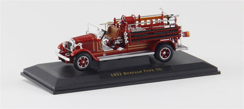 1932 Buffalo Type 50 Fire Engine (Red) 1/43 Diecast Car by Yat Ming/Signature Series
