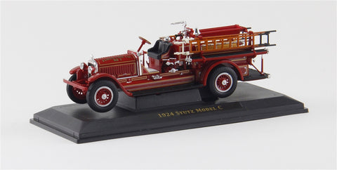 1924 Stutz Model C Fire Engine (Red) 1/43 Diecast Car by Yat Ming/Signature Series