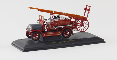 1921 Dennis N Type Fire Engine (Red) 1/43 Diecast Car by Yat Ming/Signature Series