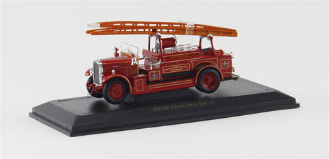 1934 Leyland FK-1 Fire Engine (Red) 1/43 Diecast Car by Yat Ming/Signature Series