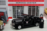 "1948 Ford F1 Pickup ""Mobilgas"" w/Tire Load (Black) 1/43 Diecast Car by Americana Truck Series"