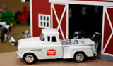 "1955 Chevy Pickup ""Meadow Gold"" w/Milk Urns (White) 1/43 Diecast Car by Americana Truck Series"