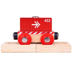 BigJigs BJT485 - Container Wagon (Red)