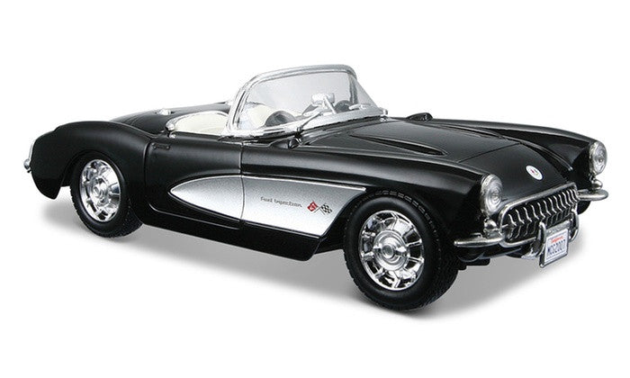 1957 Chevrolet Corvette (Black) 1/24 Diecast Model Car by Maisto