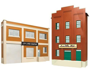 Walthers 933-2717 - City Litho & Black Rock Beverage Building Front
