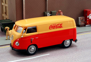 Coca-Cola 1962 Volkswagen Minibus (Yellow/Red) by Motor City Classics