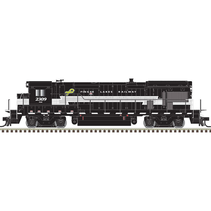 Atlas HO 10003644 - HO B23-7 Locomotive - Finger Lakes 2309 (Black/Gray/White)
