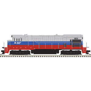 Atlas HO 10003630 - HO B23-7 Locomotive - Metro-North 805 (Blue/Red/Silver)