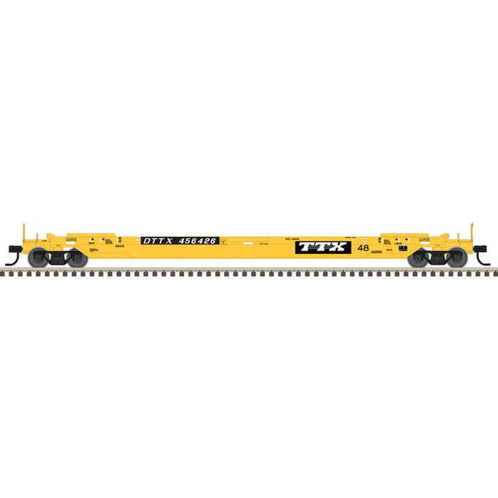 Atlas HO 20006011 - 48' All Purpose Well Car - TTX 456418 (Yellow/Black/White)