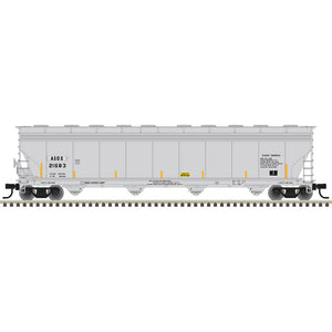 Atlas HO 20006018 -  ACF® 5800 Plastics Hopper Car - Americas Styrenics (ASOX) 21683 (Gray/Black/Yellow)