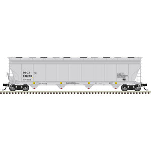 Atlas HO 20006020 -  ACF® 5800 Plastics Hopper Car - BASF (DBCX) 971230 (Gray/Black)