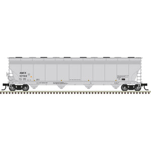Atlas HO 20006022 -  ACF® 5800 Plastics Hopper Car - BP Amoco (AMCX) 107912 (Gray/Black)