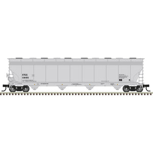 Atlas HO 20006023 -  ACF® 5800 Plastics Hopper Car - Eastman Tennessee (ETCX) 58001 (Gray/Black)