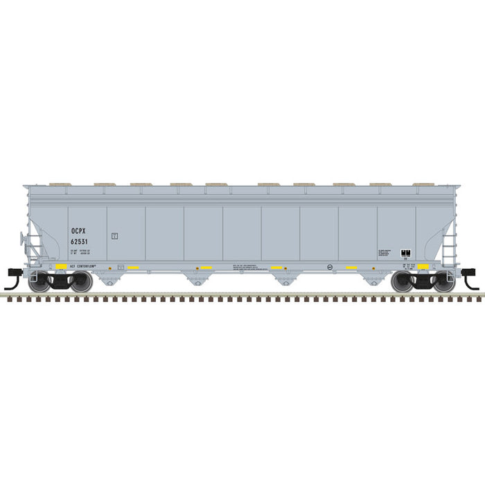 Atlas HO 20006027 -  ACF® 5800 Plastics Hopper Car - Oxyvinyls (OCPX) 62505 (Gray/Black/Yellow)