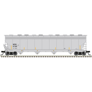 Atlas HO 20006033 -  ACF® 5800 Plastics Hopper Car - Wells Fargo Rail (WFRX) 877585 (Gray/Black/Yellow