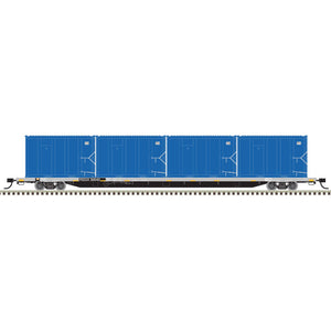 Atlas HO 20006046 - 85' Trash Flat Car With MSW Containers - RSGX 30040 (Gray/Black/Yellow)