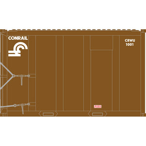 Atlas HO 20006054 - High-Cube MSW Container - Conrail† 1055, 1066, 1087, 1099 (Brown/White) Set #2