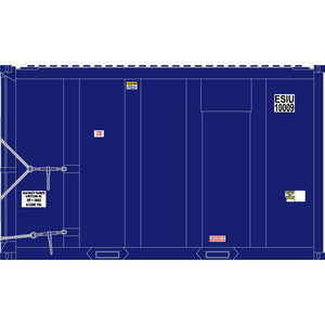 Atlas HO 20006055 - High-Cube MSW Container - ESIU 10009, 10027, 10034, 10046 (Blue/White) Set #1