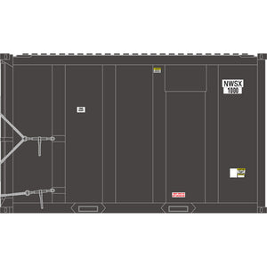 Atlas HO 20006057 - High-Cube MSW Container - NWSX 1000, 1044, 1095, 1175 (Gray/White) Set #1