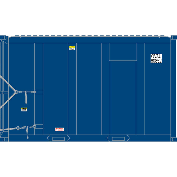 Atlas HO 20006060 - High-Cube MSW Container - OVAU 60189, 60222, 60459, 60469 (Blue/White) Set #2