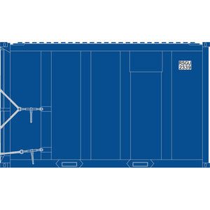 Atlas HO 20006061 - High-Cube MSW Container - RSGU 2189, 2197, 2272, 2339 (Blue/White) Set #1