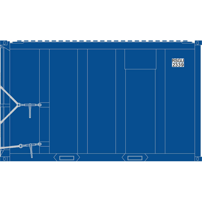 Atlas HO 20006062 - High-Cube MSW Container - RSGU 2020, 2073, 2237, 2351 (Blue/White) Set #2