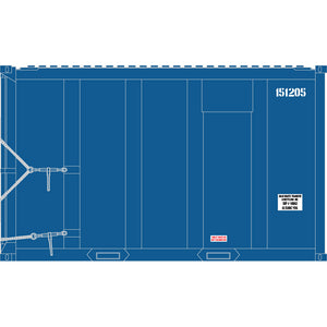 Atlas HO 20006064 - High-Cube MSW Container - Solid Waste Transfer 150059, 150405, 151120, 151205 (Blue/White) Set #2