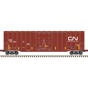 Atlas HO 20006073 -  NSC 5277 50' Plug Door Box Car - Canadian National 413065 (CNIS) (Brown/White)