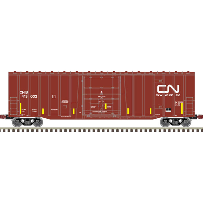 Atlas HO 20006071 -  NSC 5277 50' Plug Door Box Car - Canadian National 413039 (CNIS) (Brown/White)