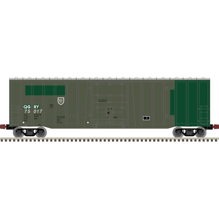 Atlas HO 20006080 -  NSC 5111 50' Plug Door Box Car - Quebec Gatineau 75117 (Green/White)