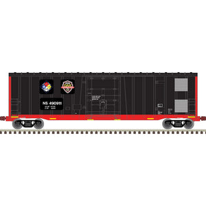Atlas HO 20006091 -  NSC 5111 50' Plug Door Box Car - Norfolk Southern First Responders Car 490411 (Black/Red)