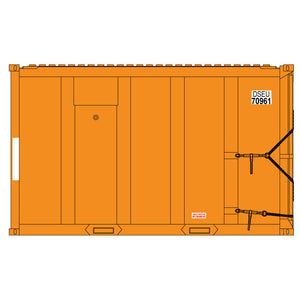 Atlas HO 20006097 - High-Cube MSW Container - DSEU 70459, 70899, 70385, 70150 (Orange/White) Set #10
