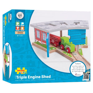 BigJigs BJT119 - Triple Engine Shed