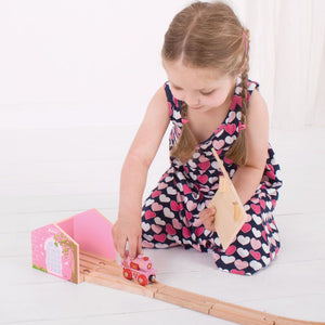 BigJigs BJT238 - Pink Double Engine Shed
