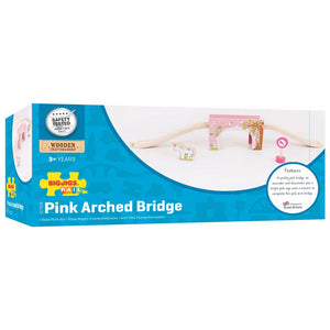 BigJigs BJT239 - Pink Arched Bridge