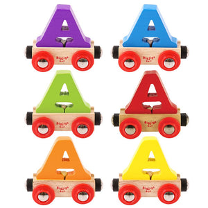 BigJigs BR101 - Rail Name Letter A (Colors Vary)