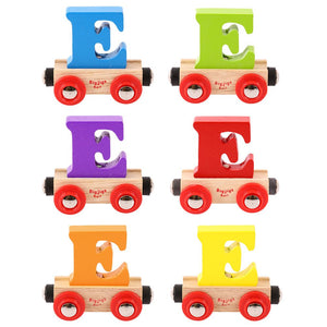BigJigs BR105 - Rail Name Letter E (Colors Vary)