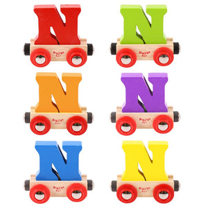 BigJigs BR114 - Rail Name Letter N (Colors Vary)