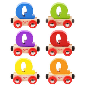 BigJigs BR117 - Rail Name Letter Q (Colors Vary)
