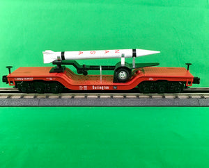 "MTH 30-76701 - Dep. Center Flat Car ""Burlington"" w/ Rocket Load"