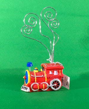 Red Train Wire Picture Holder