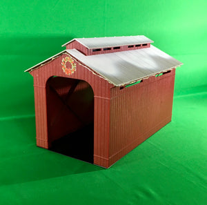 Lionel 1929090 - Lighted Christmas Half-Covered Bridge