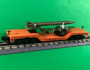 "MTH 30-76700 - Dep. Center Flat Car ""Denver & Rio Grande"" w/ Rocket Load"