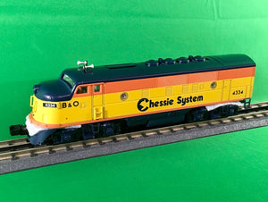 "MTH 30-20733-1 - F-3 ABA Diesel Engine Set ""Chessie"" w/ PS3"
