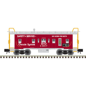 "Atlas O 2001796A - Trainman - Bay Window Caboose ""Chessie System"" (2-Rail)"
