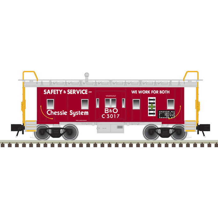 "Atlas O 2001746A - Trainman - Bay Window Caboose ""Chessie System"""