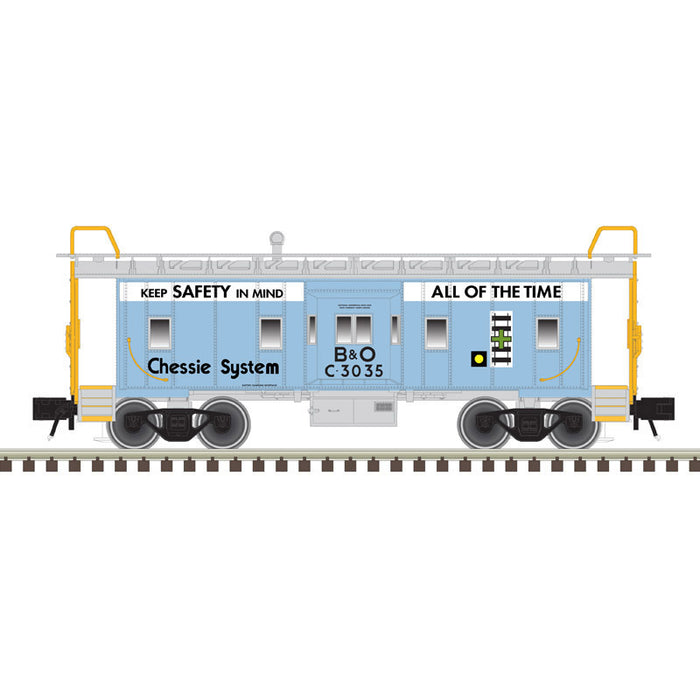 "Atlas O 2001796B - Trainman - Bay Window Caboose ""Chessie System"" (2-Rail)"
