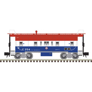 "Atlas O 2001797 - Trainman - Bay Window Caboose ""Erie Lackawanna"" (2-Rail)"